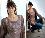 Shimmer Vest & Cross Over Top