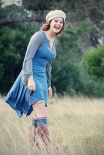 Morphe Urban Posh Blue drape top