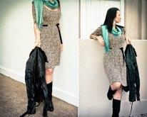 Leopard Print dress Code GCLPD , R400 Aqua Teal Pashmina R40.00