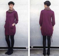 Winter Drawstring Dress in Plum ~ R400
