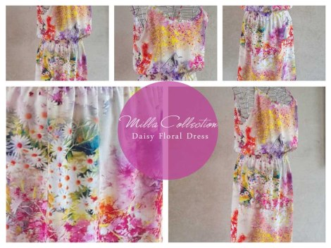 Pink & white daisy floral dress Code:MCdaisy ZAR240.00