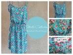 Turquoise & Pink rosebud floral dress Code: MCRose ZAR 240.00